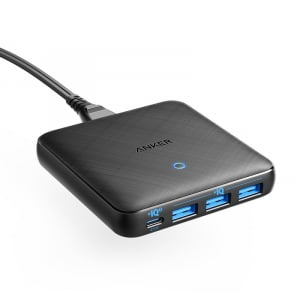 "USB PDに対応する新規格""PowerIQ 3.0""と窒化ガリウム(GaN)を組み合わせて薄型・高出力を実現 「Anker PowerPort Atom III Slim(Four Ports)」が発売"