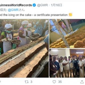 インドで「世界一長いケーキ」がギネス世界記録認定 全長なんと5300メートル!