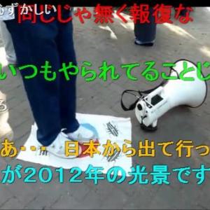デモ中に太極旗に似た旗を足で踏みつけニコ動に公開し案の定炎上 「日本の恥」「在日以下」「民度低い」