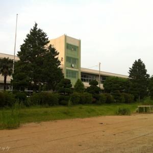 【写真】福島第一原発から3キロ圏内にある小学校――大熊町立熊町小学校