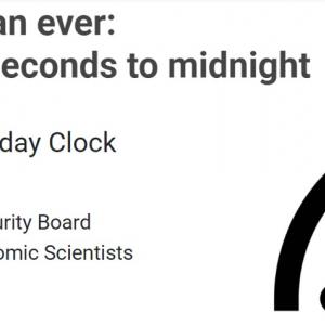 「世界終末時計(Doomsday Clock)」は残り100秒 世紀末はもうすぐそこ!?