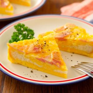 """食パンで超簡単に""""キッシュ""""を作る方法とは? レンジレシピが話題に「朝ごはんやブランチに最高」"""