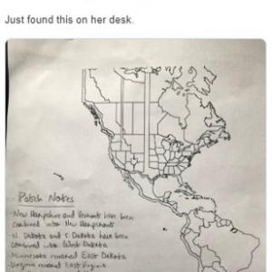斬新すぎるアメリカ大陸の地図 「テキサスはカナダの一部なの?それともカナダがテキサスの一部なの?」