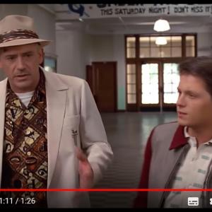 マーティがトム・ホランドでドクがロバート・ダウニー・Jrの『バック・トゥ・ザ・フューチャー』……ディープフェイクです