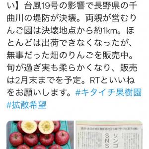 「Twitter民の力を貸してください」 千曲川氾濫被害のキタイチ果樹園がりんごのSNS販売を実施中