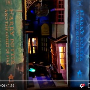 本棚の隙間に息づく魔法の世界 「Wizard Alley Booknook」がKickstarter展開中