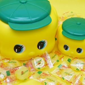 フエキくん容器の中にパインアメがぎっしり!「フエキ×パインアメ」楽しい大阪ロングセラーコラボが一般発売