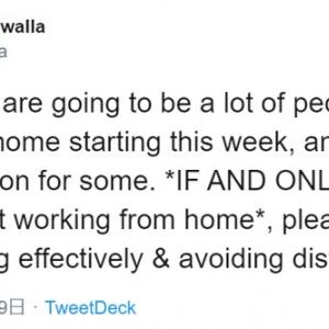 在宅勤務する上でのアドバイス  「自宅での仕事は遊びではないと家族や友人が理解すること」