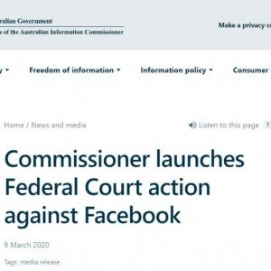 個人情報売買・使用されたと主張 オーストラリア情報コミッショナー事務局がFacebookを提訴