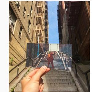 映画のワンシーンを切り取った写真を実際のロケ地の風景に重ね合わせてみました どの映画のワンシーンだかわかる?
