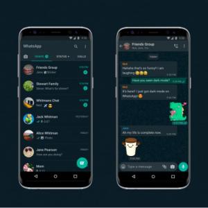 WhatsAppのアプリがようやくダークモードに対応