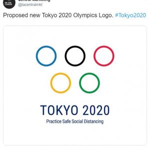 新型コロナウイルスなんか笑い飛ばせ 「東京オリンピックの新しいロゴを提案」