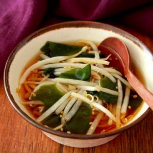 テレワークで体重気になってきた時に作りたいレンジレシピ「わかめもやしの中華スープ」が話題に
