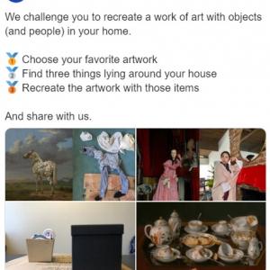 隔離生活を楽しく過ごすチャレンジのご提案 J・ポール・ゲティ美術館からの挑戦状