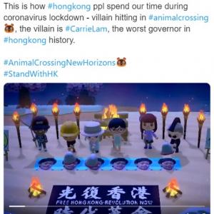 そういえば香港の民主化デモってどうなった? 『あつまれ どうぶつの森』の中で継続中らしいよ