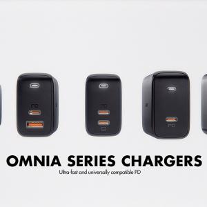 AUKEYが窒化ガリウム(GaN)採用で小型・高出力を実現したUSB急速充電器の新製品「Omniaシリーズ」を発表 PD対応65W出力の製品から順次発売へ