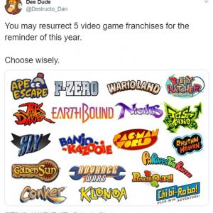 どのゲームシリーズを復活させたい? 選んでいいのは5つだけ
