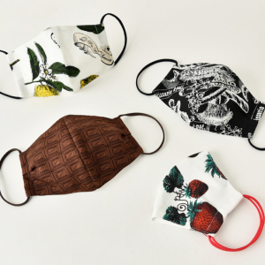 Q-pot.が布マスクを受注販売!ストロベリーやチョコレートのテキスタイルでオシャレに感染予防♪