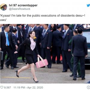金正恩の妹・金与正関連のネタ投稿がTwitterで大量に出回る