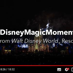 「#DisneyMagicMoments」 ウォルト・ディズニー・ワールド・リゾートの花火ショー「Happily Ever After」の映像がYouTubeで公開