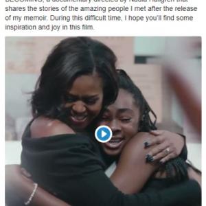 ミシェル・オバマ元大統領夫人のドキュメンタリー『マイ・ストーリー(原題:Becoming)』 Netflixで5月6日配信開始