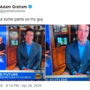 テレビの生放送に自宅から出演する時も決して油断はしないでください 「とりあえず半ズボンでも履いててよかったよね。履いてなかったら大事故だよ」