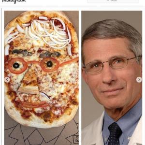 米国立アレルギー・感染症研究所(NIAID)のアンソニー・ファウチ所長に寄せたピザ