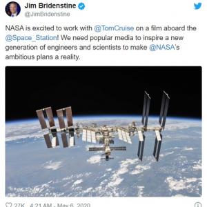 トム・クルーズとNASAが国際宇宙ステーションで映画撮影することが明らかに