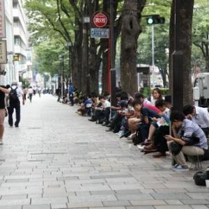 『iPhone5』をゲット 表参道には60人前後の列と落ち着き銀座は300人以上の列