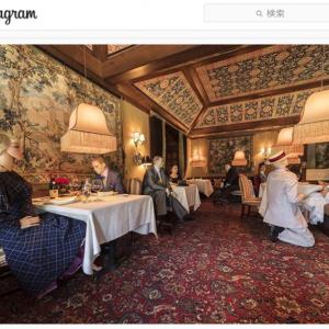 営業再開するアメリカのレストラン 社会的距離の確保にマネキンを活用