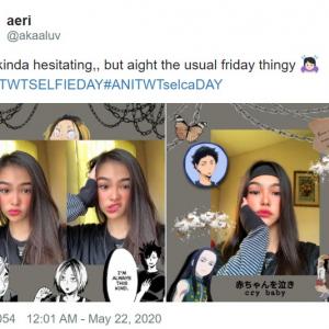 海外のアニメファンが好きなキャラとの自撮りで盛り上がっている件 #ANITWTSELFIEDAY