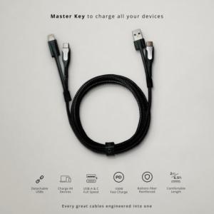 1本であらゆるUSBデバイスを充電できる6-in-1 USB充電ケーブル「Charby Edge」がIndieGoGoに登場
