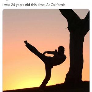 WWEの中邑真輔選手 24歳時の『ベスト・キッド』すぎる写真を公開