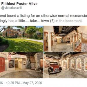 地下にレトロな街がある豪邸がワシントンDC郊外で見つかる 郵便局や映画館まであるぞ