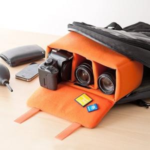 カメラバッグの別持ち不要! いつものバッグに使える肉厚クッションのインナーケース