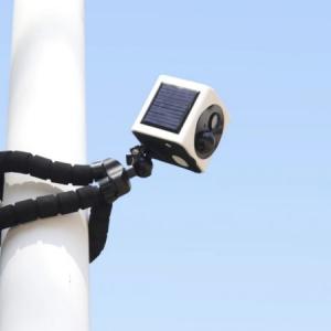 完全ワイヤレス! ソーラー発電しながら駆動するセキュリティカメラ「EyeCube」