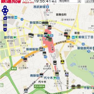 『Googleマップ』上に鉄道運行状況をリアルタイム表示する『鉄道Now』が面白い! 新宿駅密集しすぎ