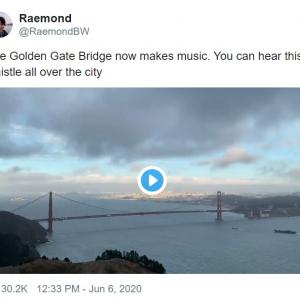 ゴールデン・ゲート・ブリッジが奏でる不思議な音 その正体は?