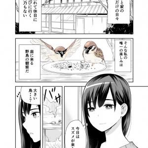 「私もモフモフしたい」の声多数! 野鳥観察趣味のお姉さんのもとにハーピーちゃんが来るマンガが超キュート