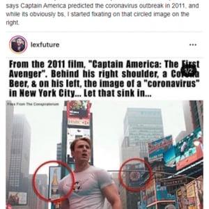 2011年の映画『キャプテン・アメリカ』が新型コロナウイルスを予言していた!? 「最高に笑える陰謀論だよ」