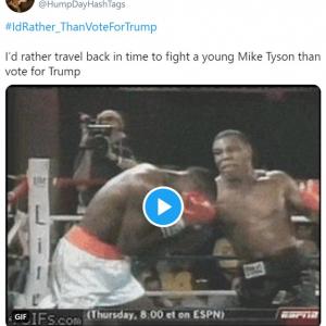 トランプに投票するくらいなら「紙やすりでケツ拭くよ」「マイク・タイソンと戦ったるわ」 ハッシュタグ「#IdRather_ThanVoteForTrump」がトレンドに