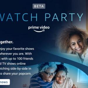 米Amazon Prime VideoにWatch Party(ウォッチ・パーティー)機能が追加 最大100人と同時視聴が可能に