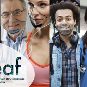 Indiegogoで1億3000万円以上の資金を集めている高機能マスク「LEAF」 換気システム搭載モデルも