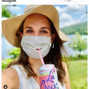 ありそうでなかったジッパー付きマスク ストローを使う時は役に立ちそうだけど