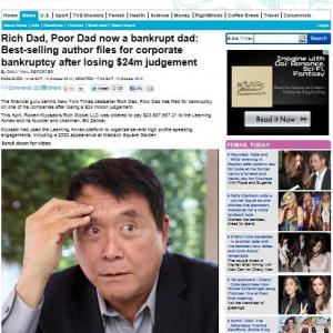 『金持ち父さん 貧乏父さん』著者が経営する会社が倒産? 一転して貧乏父さんに