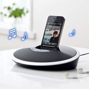 『iPhone/iPad』やスマホのスタンドにもなる! 円盤型のBluetoothスピーカー