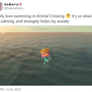 『あつまれ どうぶつの森』で泳げるのがシンプルに楽しい 新型コロナウイルスの影響でビーチにいけないからね
