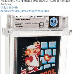 オークションに出品された未開封の『スーパーマリオブラザーズ』 11万4000ドル(約1200万円)で落札される