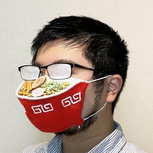 """マスク着用時にメガネが曇るのを有効活用? ラーメンがアツアツに見える""""眼鏡の人専用マスク""""が話題"""