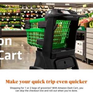 Amazonがスマートショッピングカート「Amazon Dash Cart」を発表 レジでの決済が不要に